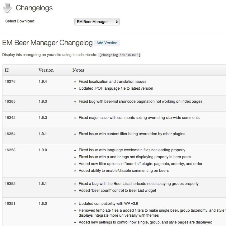 DLM Changelog Add-on